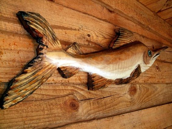 Swordfish sculpture quot chainsaw wood carved nautical
