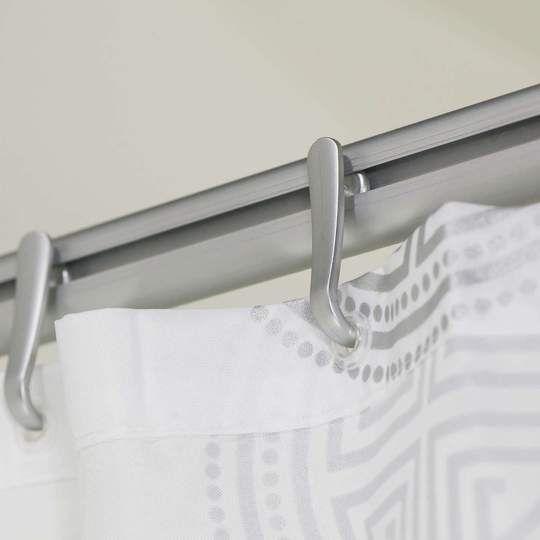 Sealskin Komplett Set Easy Roll Duschvorhangstange Aluminium Chrom