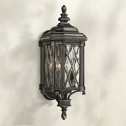 Bexley Manor 25 1 4 H Diamond Black Outdoor Wall Light 9g292 Lamps Plus Black Outdoor Wall Lights Wall Lights Outdoor Wall Lighting