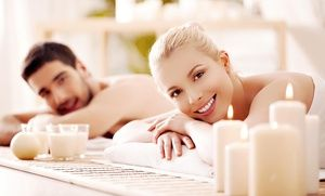 Groupon - Couples Hot-Stone Massage with Wine and Chocolate, a Private Couples Retreat, or Both at Body Lounge Spa (Up to 70% Off) in Sherman Oaks. Groupon deal price: $0.49