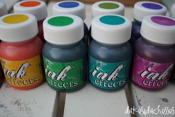 DecoArt Ink Effects- cool!  paint on paper and transfer to fabric with an iron!