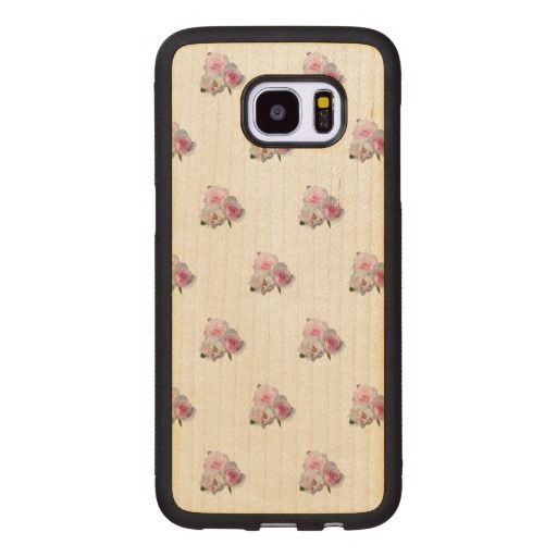 Three Pink Roses Floral Pattern Wood Samsung Galaxy S7 Edge Case Wood Wooden Samsungcase Samsung Galaxy S7 Edge Cases Samsung Cases Samsung Galaxy S7 Edge