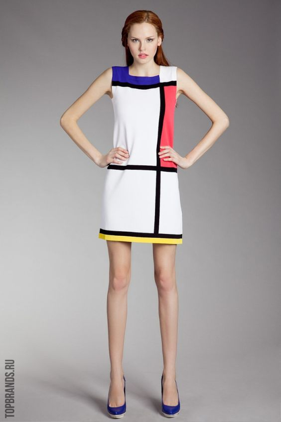 15 Creative Architecture Halloween Costumes - 08 Yves Saint Laurent -Mondrian's De Stijl Inspired Fashion