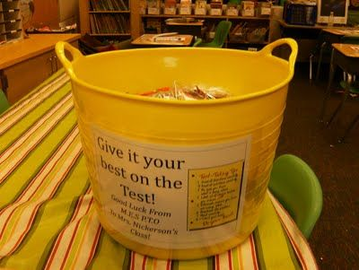 Cute idea to excite kids and relieve stress for tests!
