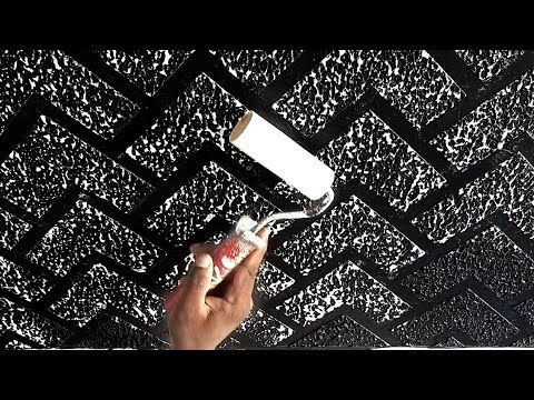 New Brick Wall Design Black And White Combination Youtube Wall Design Wall Paint Designs Creative Wall Painting