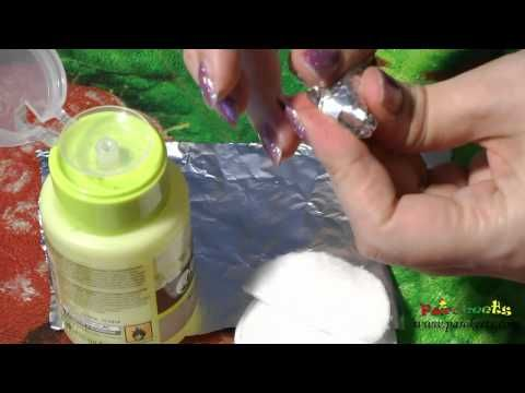 """Quickest and most """"painless"""" way for removing glitter nail polish."""