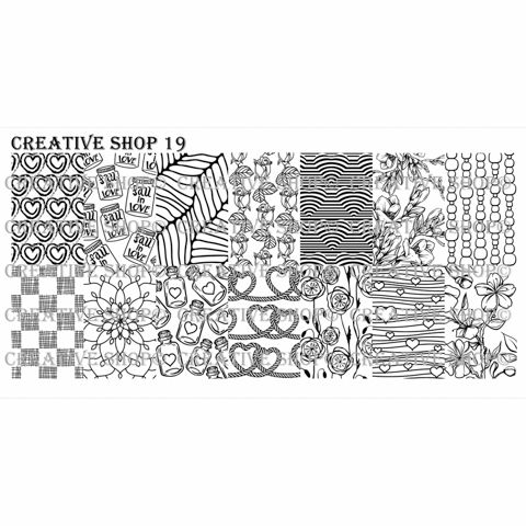 Creative Shop- Stamping Plate- 19