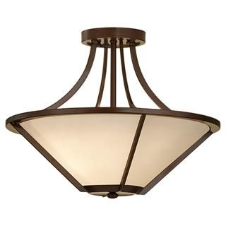 Check out the Feiss SF296HTBZ-LA Nolan 3 Light LED Indoor Semi Flush Mount in Heritage Bronze