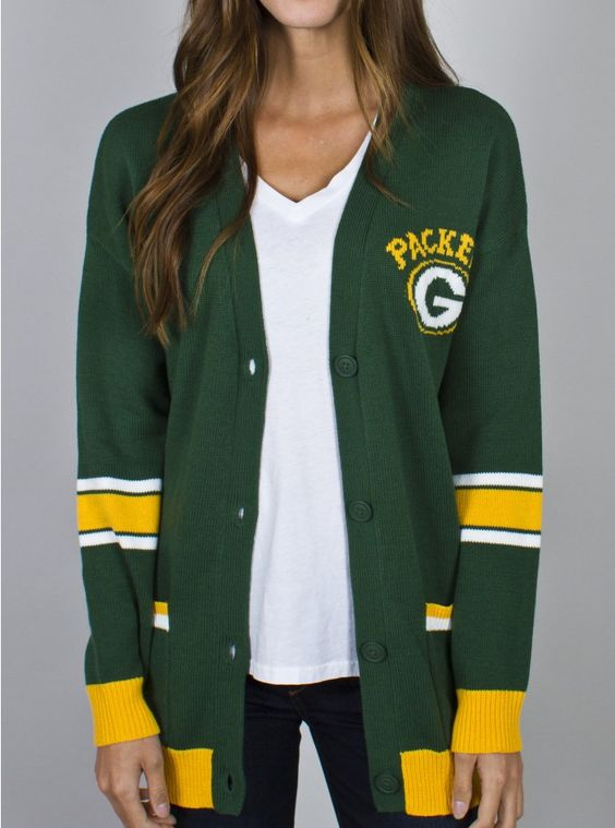 NFLGreen Bay Packers Unisex Intarsia Cardigan