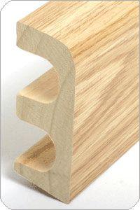 Holz-Rohrabdeckleiste 30x85mm foliert - Dekor: Eiche |