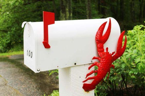 In Neu-England, dem Lobster Land, gibt es die Hummer sogar an Briefkästen zu sehen
