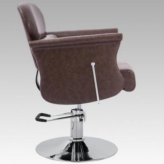 All Purpose Brown Pu Leather Reclining Hair Barber Chair Styling Chairs For Beauty Salon Shop Beauty Spa Equipment Hair Salon Furniture Manufacturers Suppliers