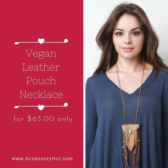 Love vegan stuff? If yes then this Vegan Leather Pouch Necklace is what you need!  Order now: http://ift.tt/2c0rz72 #YouCanNeverHaveTooMany  #Accessoryhut #vegan #veganleather #necklace #purse #accessories #authenticbags #luxurybags #fashionblog #streetfashion #highheelshoes #ToteBags