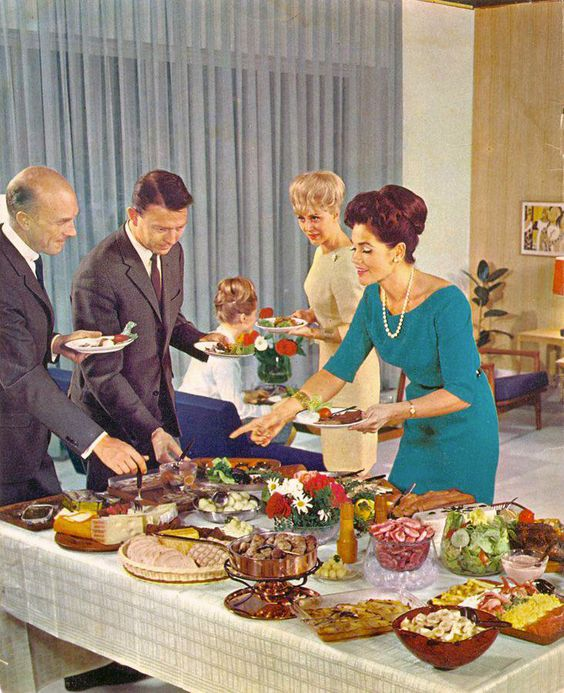 Buffet Cuisine 1950: Cocktail Parties, Cocktails And 1960s On Pinterest