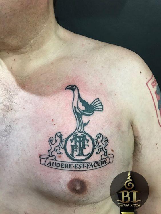 Done Tottenham Hotspur emblem by Tanadol #bttatoo #thailandtattoo #bangkoktattoo #thailand #bangkok #tattoo #emblemtattoo #thailandtattooshop #bangkoktattooshop