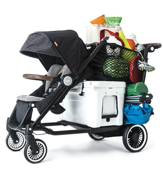 The Austlen Entourage can carry 150 pounds of kid(s) and cargo.