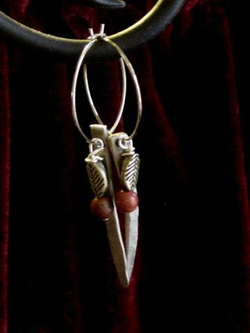 Earringsbaubles antique silverplate fork tines by SpoonChick