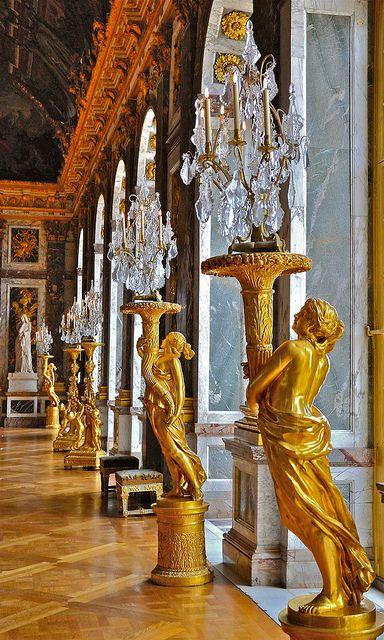 Gilded sculptured guéridons, Château de Versailles, France