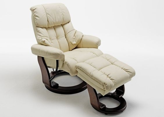 Relaxsessel Kanada Echt Leder Creme 5812. Buy now at https://www.moebel-wohnbar.de/relaxsessel-kanada-fernsehsessel-mit-hocker-echleder-creme-5976.html