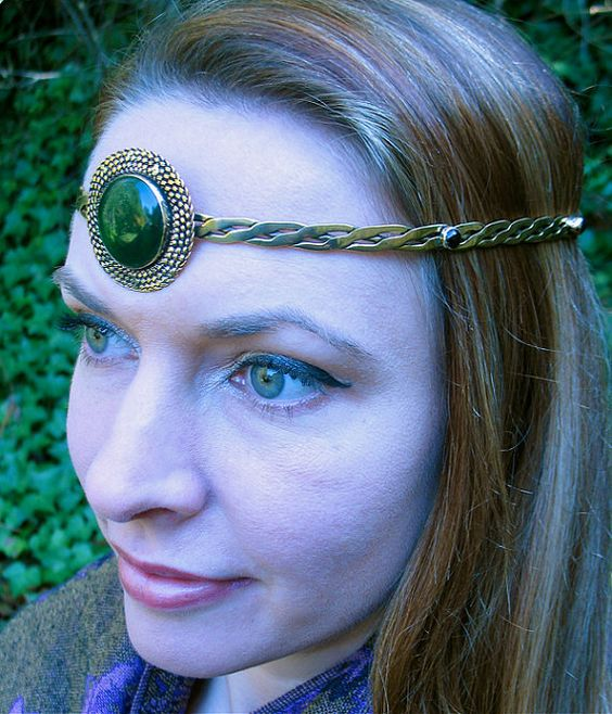 Brass Circlet with Centerpiece by SpiritoftheGoddess on Etsy, $62.00