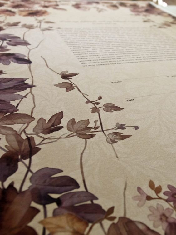 Ketubah - Flowers Frame (twigs and flowers)