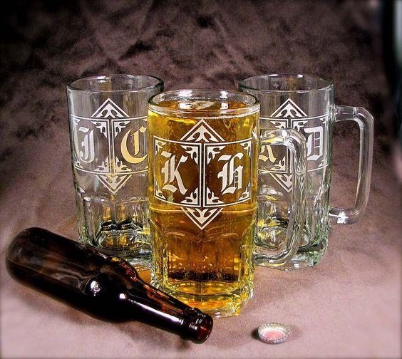 Beer Steins 4 Gigantic 1 Liter Groomsmen Gifts by bradgoodell, $98.00