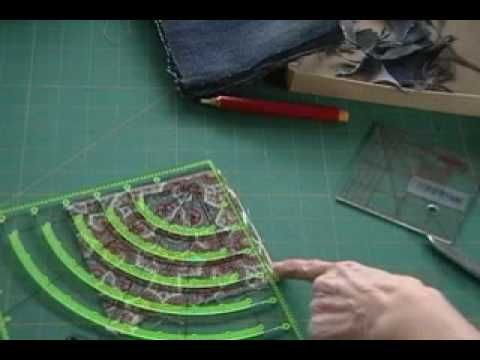 Penny Halgren Shows How To Make A Blue Jeans Quilt Using Circles Cut From Jeans And