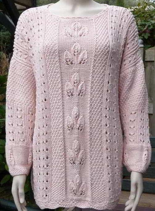 Lace-Knit-Sweater-Pattern-For-Women.jpg (502×685)