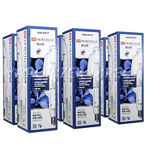 1000w Mh Hortilux Blue 80 000 Lumens 6 Pack Packing Blue Hydroponics