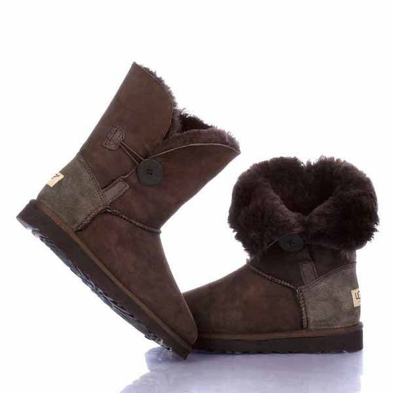 ugg bailey button boots 5803 chocolate