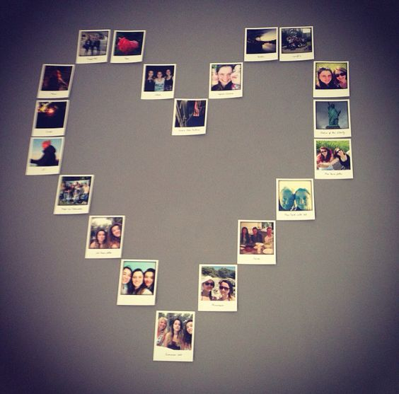 C ur en polaroid sur un mur d co pinterest polaro d - Mur photo polaroid ...