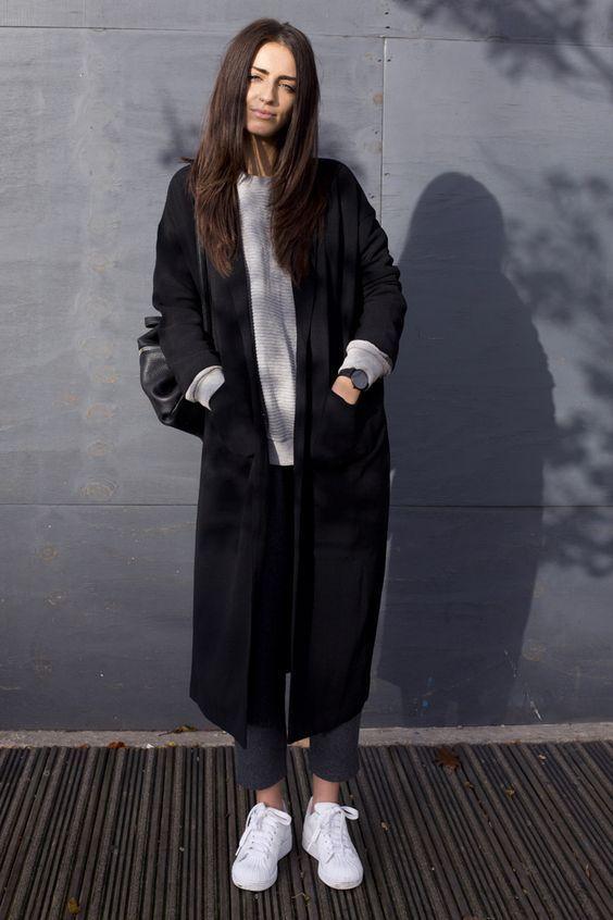 модное длинное женское пальто фото