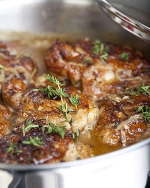 Braised Chicken Thighs - I liked but Shane didn't. Turns out he doesn't like rosemary