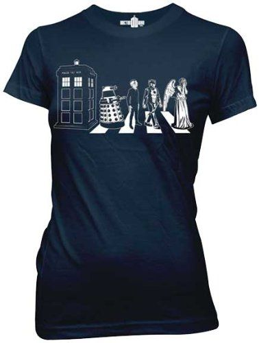 Doctor Who Crossing Street Dalek TARDIS Juniors T-shirt for only $16.44 You save: $8.56 (34%)