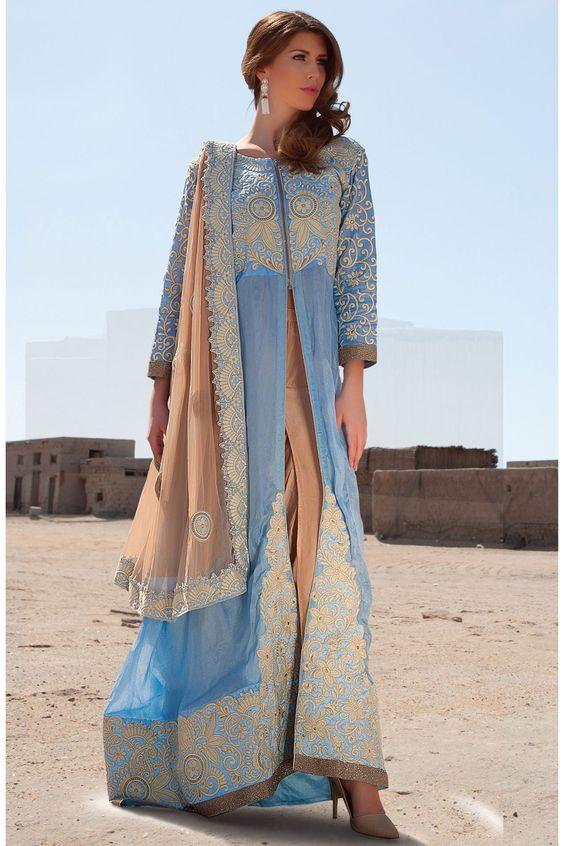Blue Anarkali Salwar Kameez Online From Easysarees