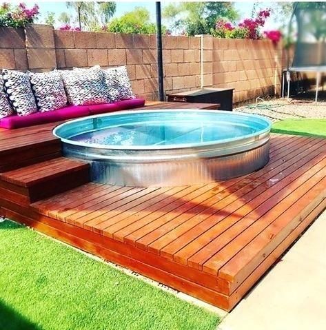 Money Saving Hacks Of Creating Best Diy Pool In 2020 Stock Tank Pool Diy Diy Swimming Pool Tank Swimming Pool