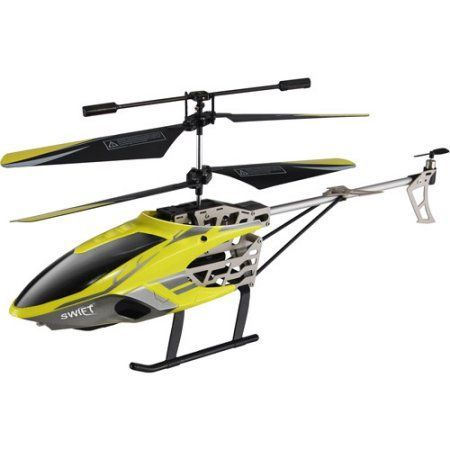 Auldey RC Swift 3-Channel Gyro Helicopter, Yellow