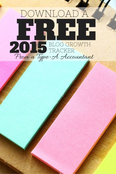 Free 2015 Blog Tracker Download + 2014  2015 Blog Income and Goals