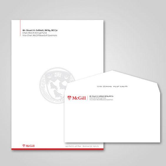 McGill University | Letterhead