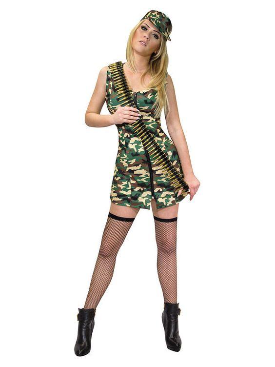Sexy Armee Kostüm für Damen camouflage aus der Kategorie Sexy Damenkostüme. Dieses Soldatin-Kostüm ist perfekt für den Krieg auf dem Dancefloor und wird jeder anderen Dame auf der Party die Show stehlen. Wer denk da schon noch ans Kämpfen?