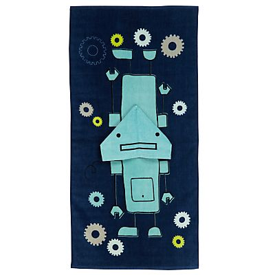 robot hooded towel/poncho
