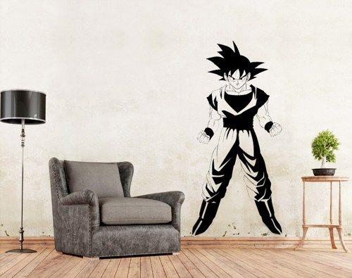 Dragon Ball Z Goku Vinyl Wall Art Decal  WD 0767. Dragon Ball Z Wall Decal Wall Art Vegeta Sticker DBZ Decal