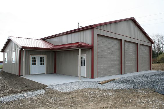 Pole buildings garage kits customer projects for Pole barn with apartment