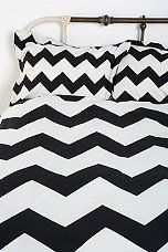 Possible new shams for our bedroom - chevron black and white.