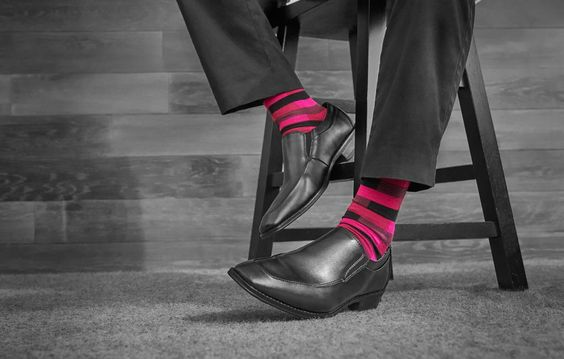Wearing Bold Socks | Men's Colorful Sock Rules | How to Wear Fashionably Colored Socks. >> http://bit.ly/1JrJtKa