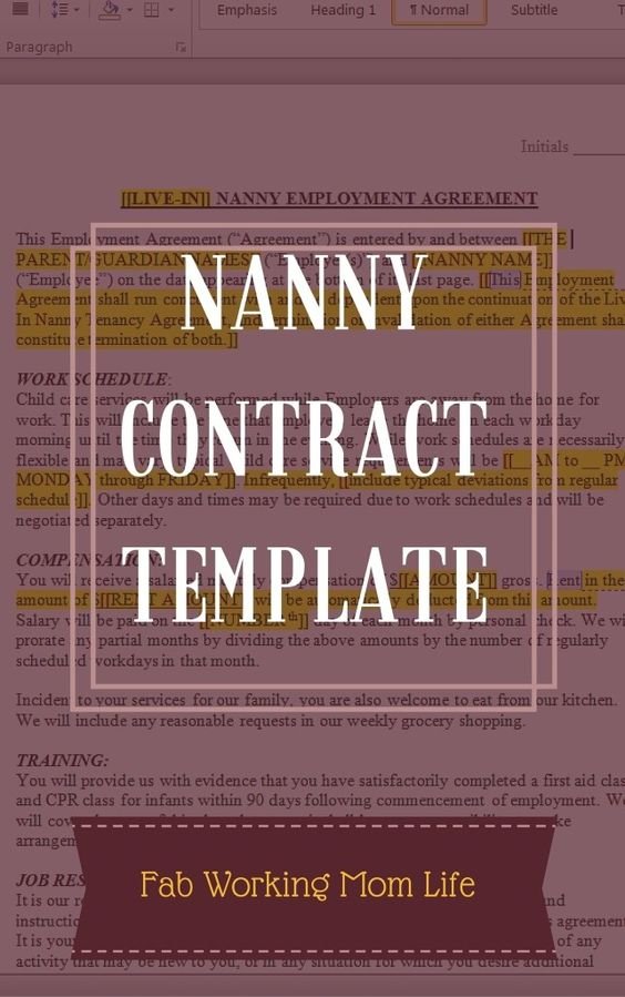 How to Introduce a New Nanny to Your Kids Nanny contract and - nanny contracts