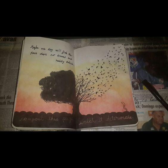 Wreck this journal - page 56- 57 by Damselindubai.dev... on @deviantART