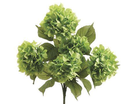 Green Silk Hydrangea Flowers   Silk Wedding Flowers   Same Day Shipping