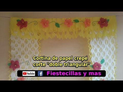 15 Como hacer cortinas de papel crepe para puertas