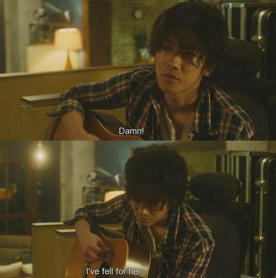 """Damn... I've fallen for her"" The Liar and his Lover (2014) Kanojo wa uso wo aishisugiteiru"